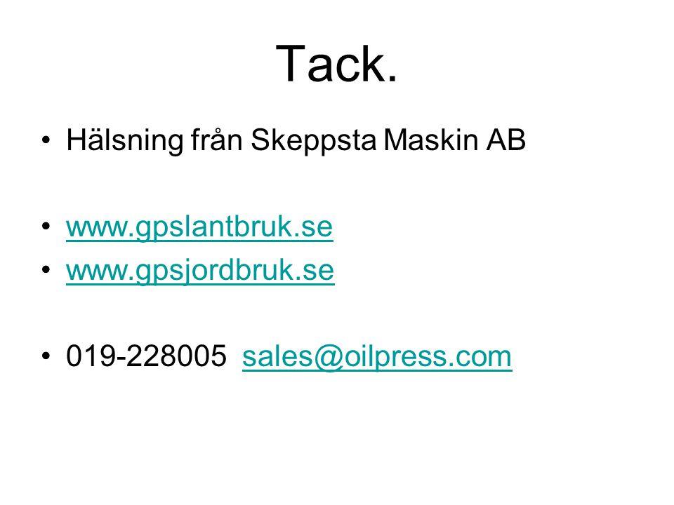 Tack. Hälsning från Skeppsta Maskin AB www.gpslantbruk.se