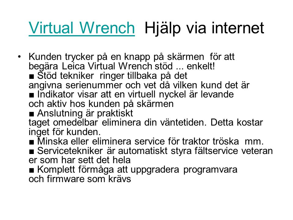 Virtual Wrench Hjälp via internet