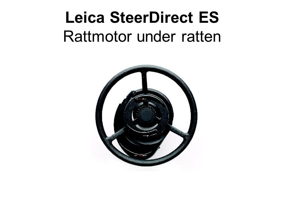 Leica SteerDirect ES Rattmotor under ratten