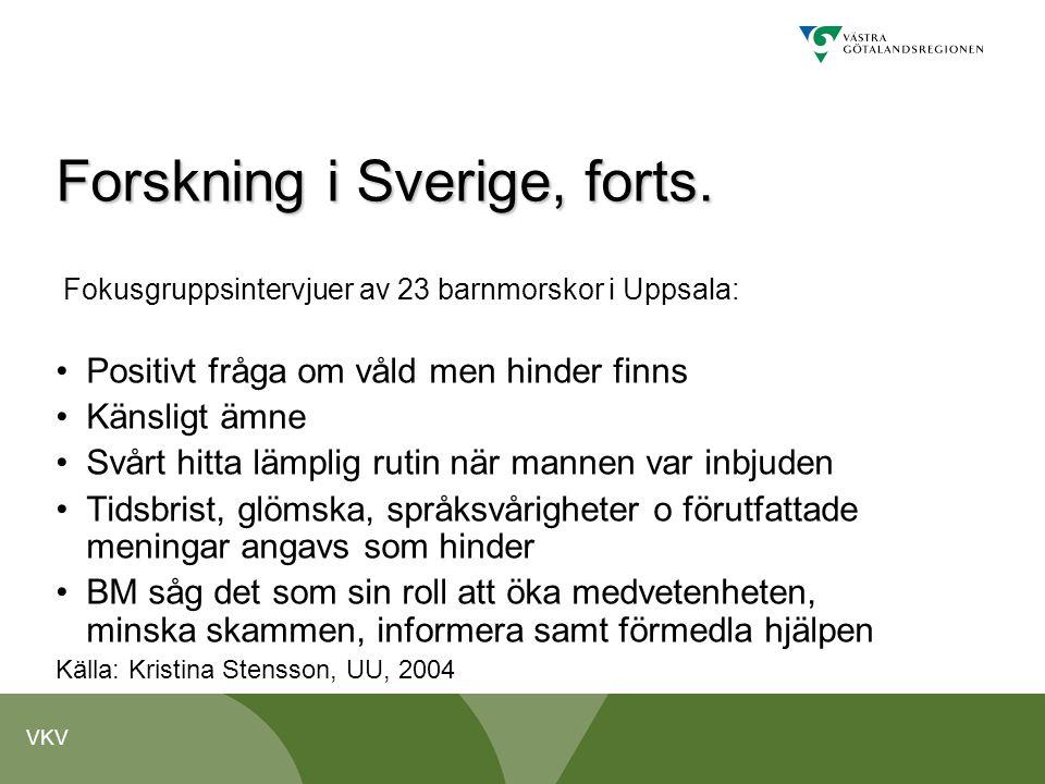 Forskning i Sverige, forts.
