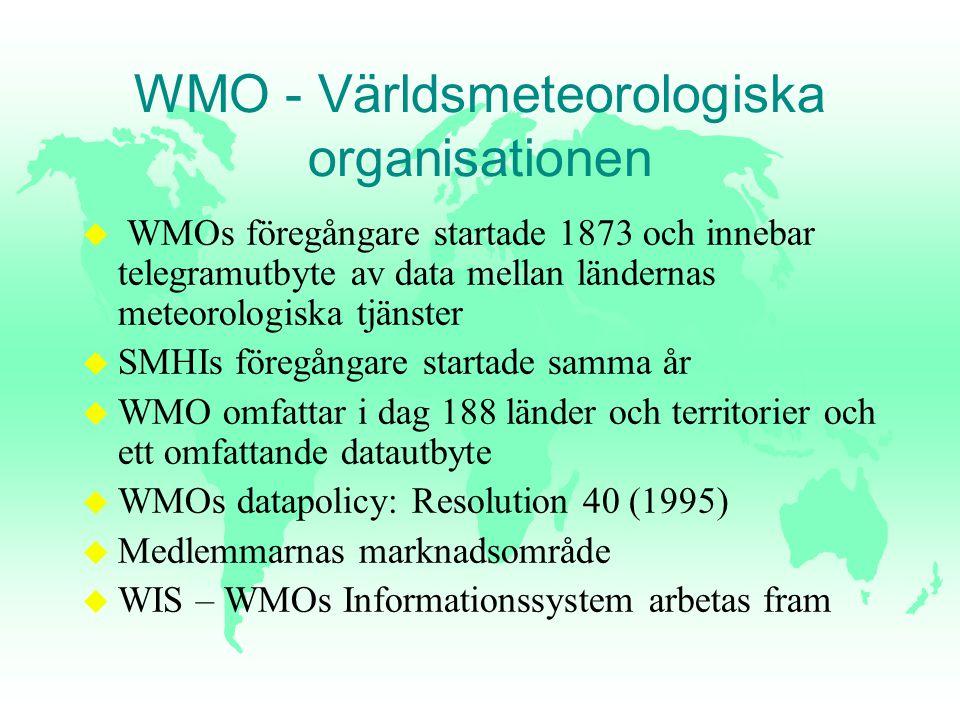 WMO - Världsmeteorologiska organisationen