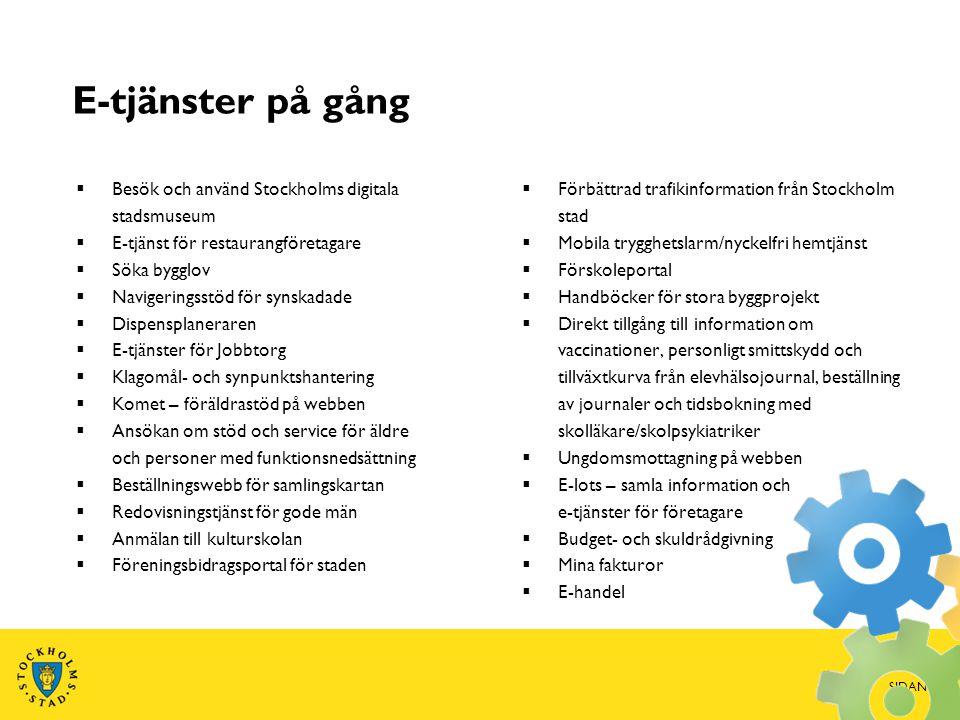 E-tjänster på gång Besök och använd Stockholms digitala stadsmuseum
