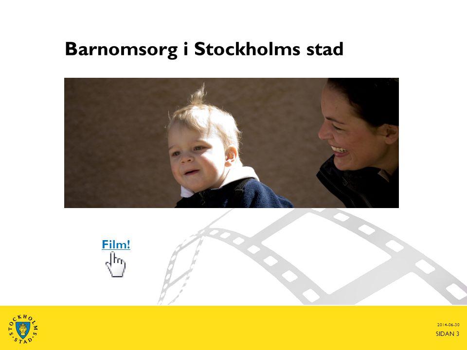 Barnomsorg i Stockholms stad