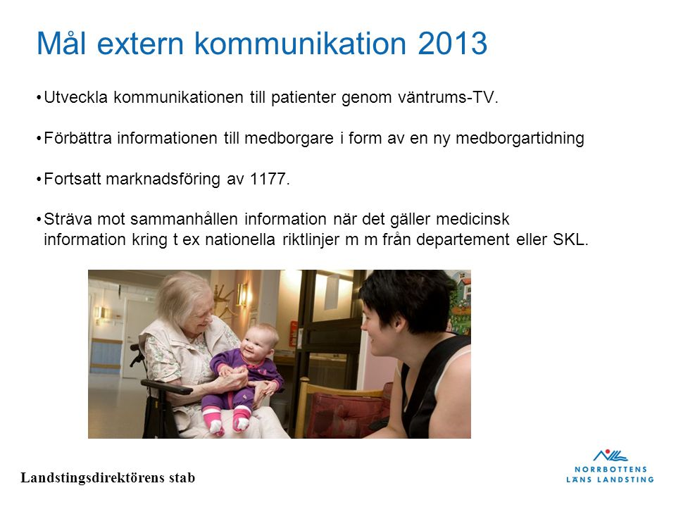Mål extern kommunikation 2013