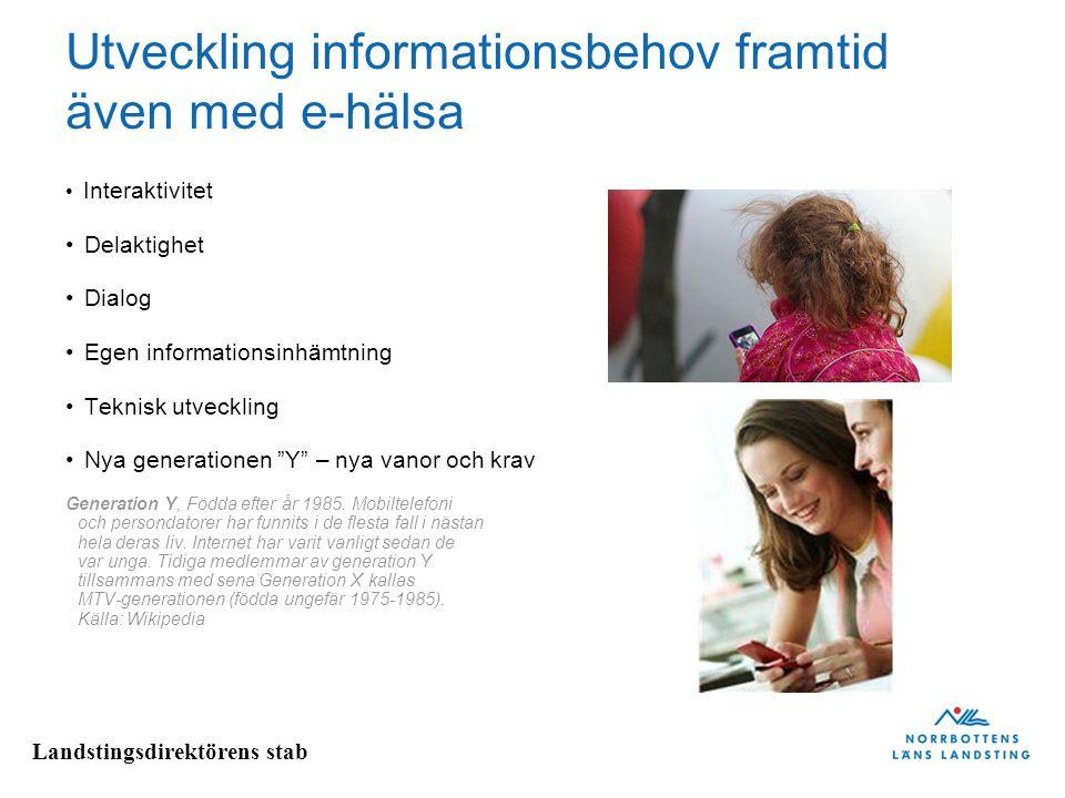 Utveckling informationsbehov framtid även med e-hälsa