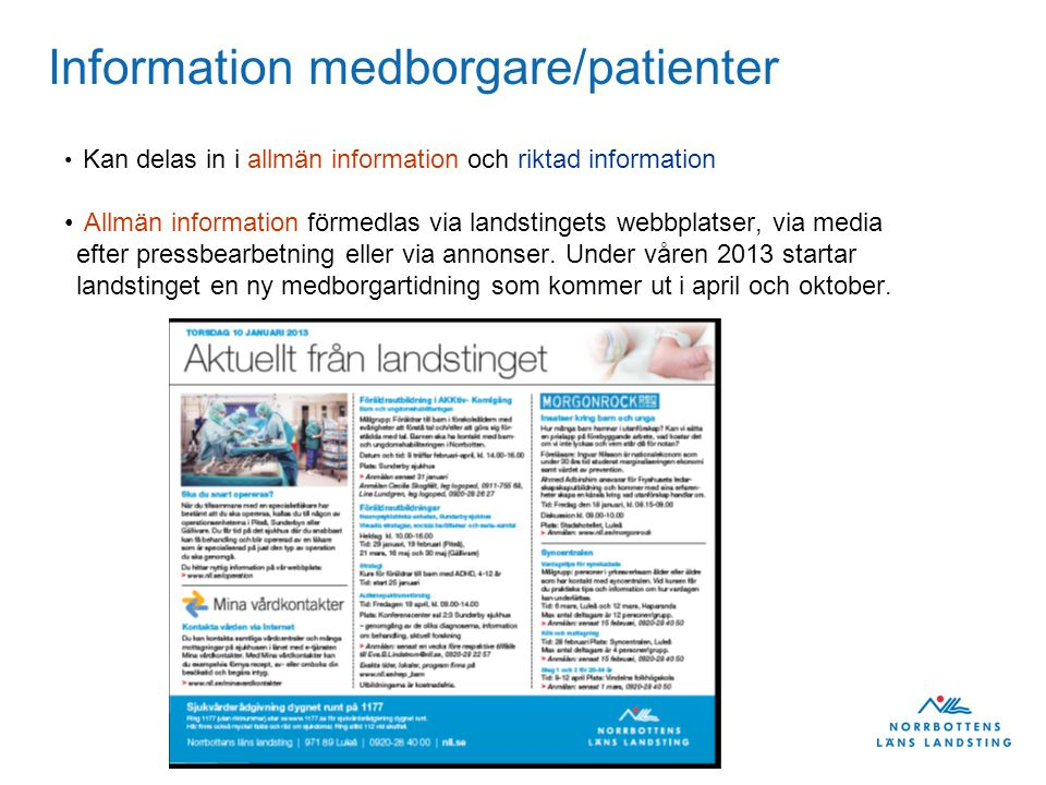 Information medborgare/patienter