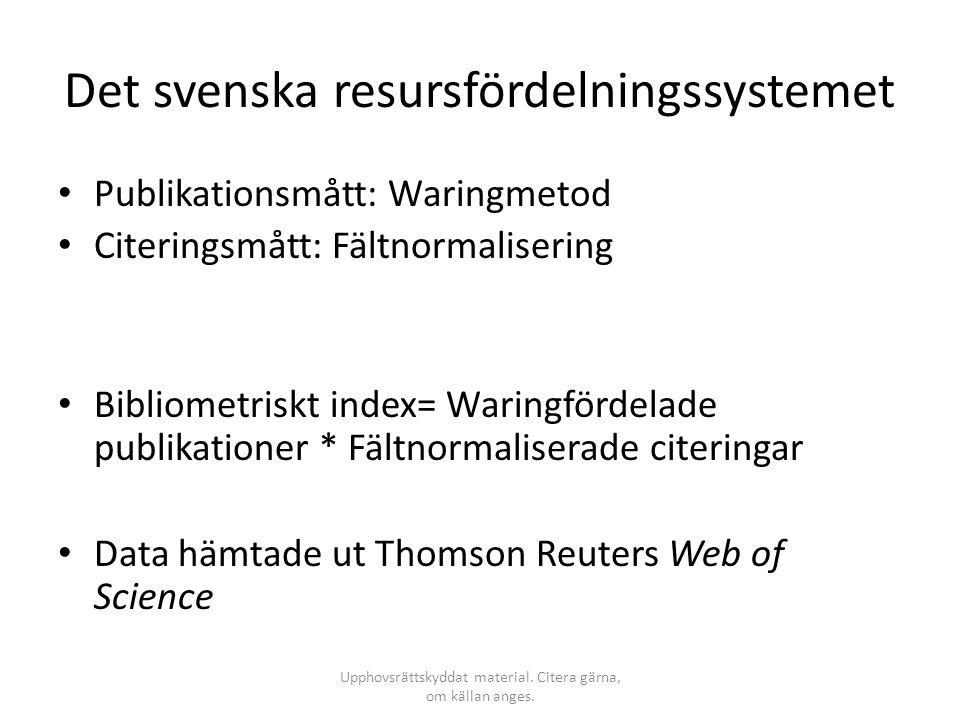 Det svenska resursfördelningssystemet