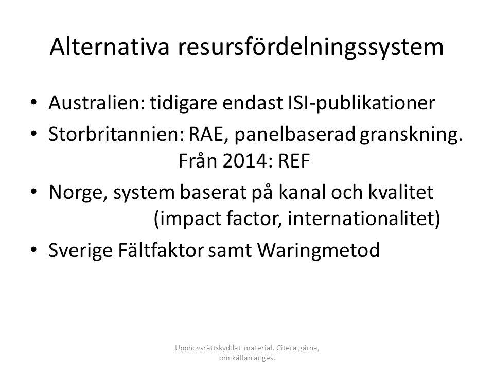 Alternativa resursfördelningssystem