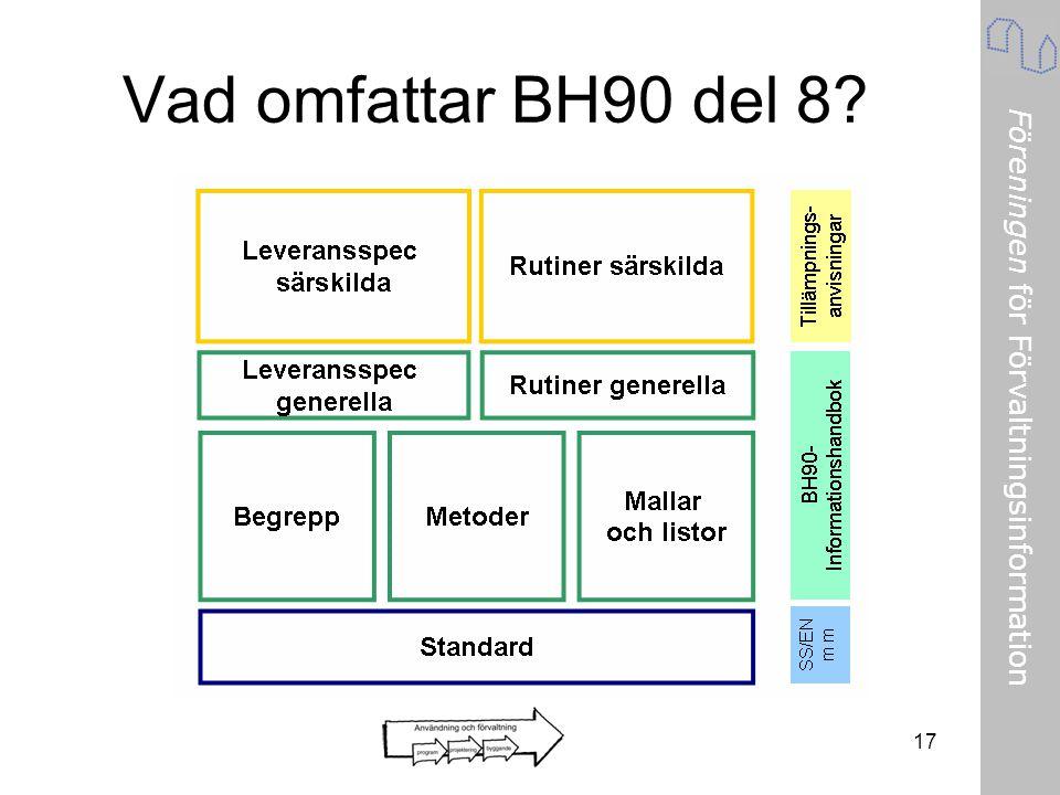 Vad omfattar BH90 del 8