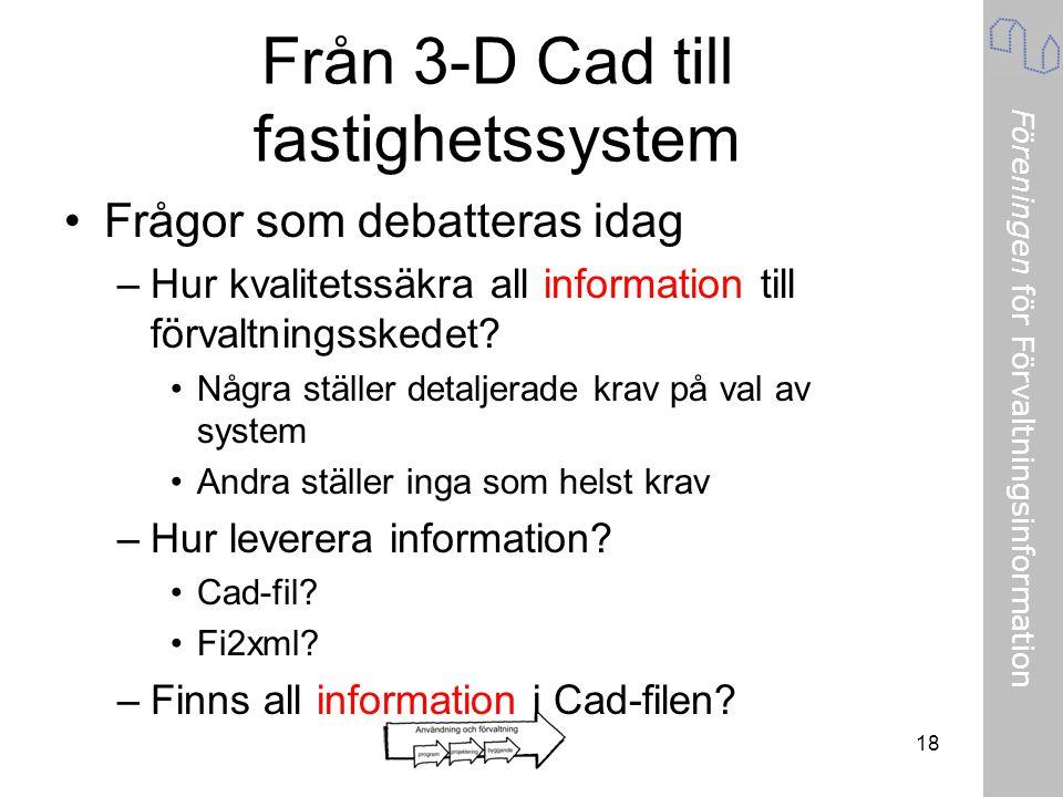 Från 3-D Cad till fastighetssystem