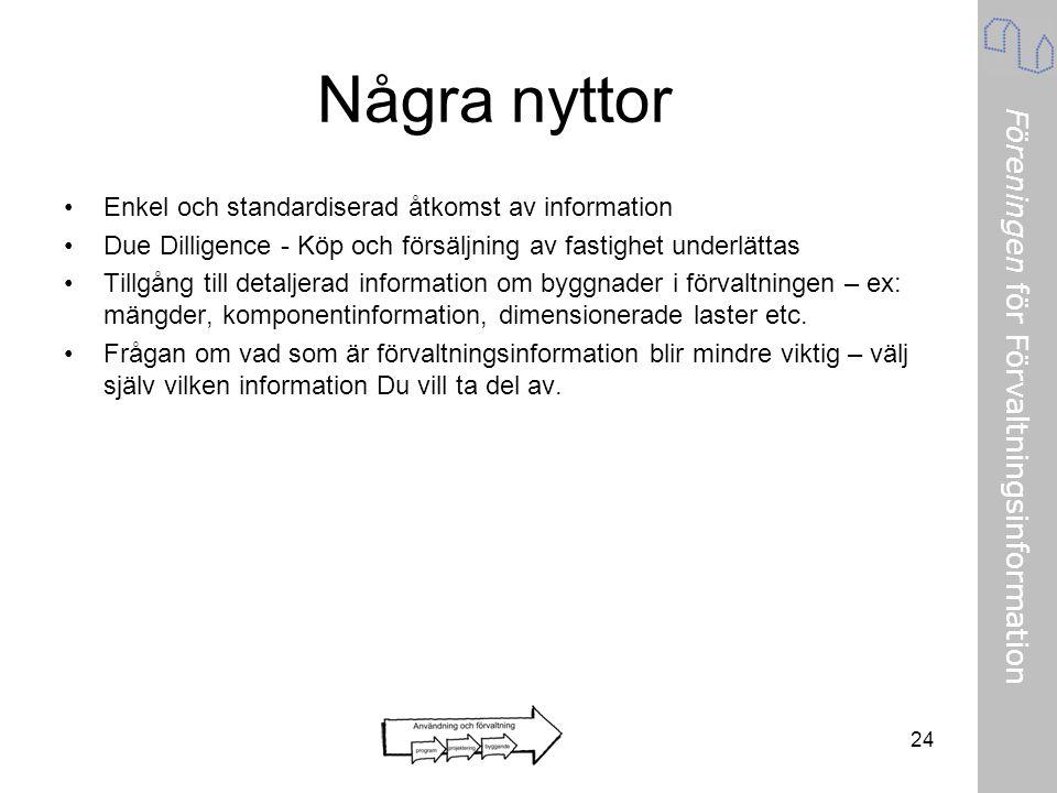 Några nyttor Enkel och standardiserad åtkomst av information