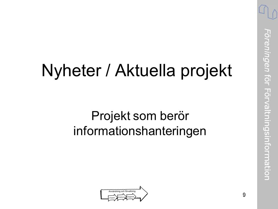 Nyheter / Aktuella projekt