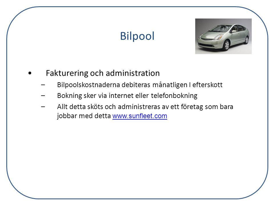 Bilpool Fakturering och administration