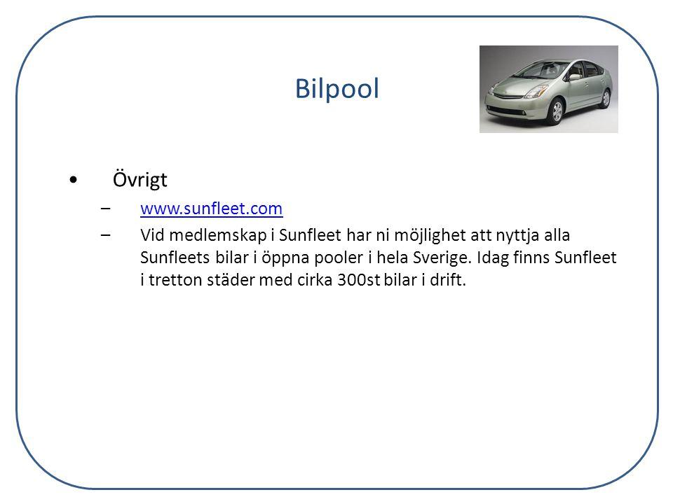 Bilpool Övrigt www.sunfleet.com