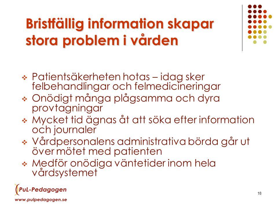 Bristfällig information skapar stora problem i vården