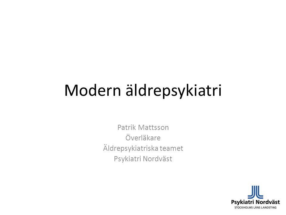 Modern äldrepsykiatri