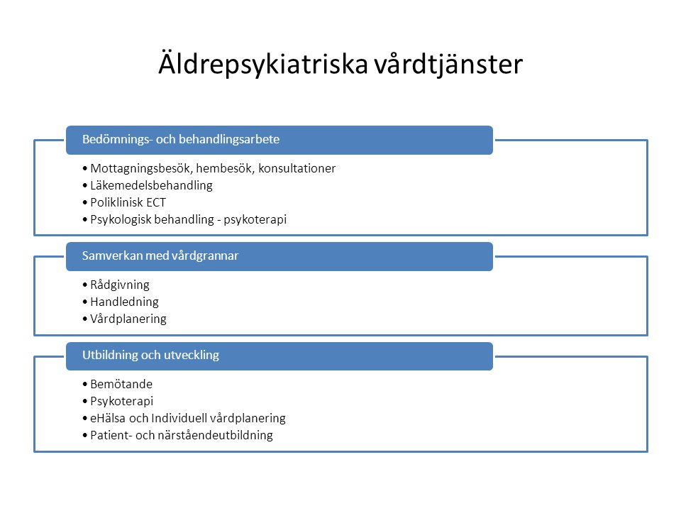 Äldrepsykiatriska vårdtjänster