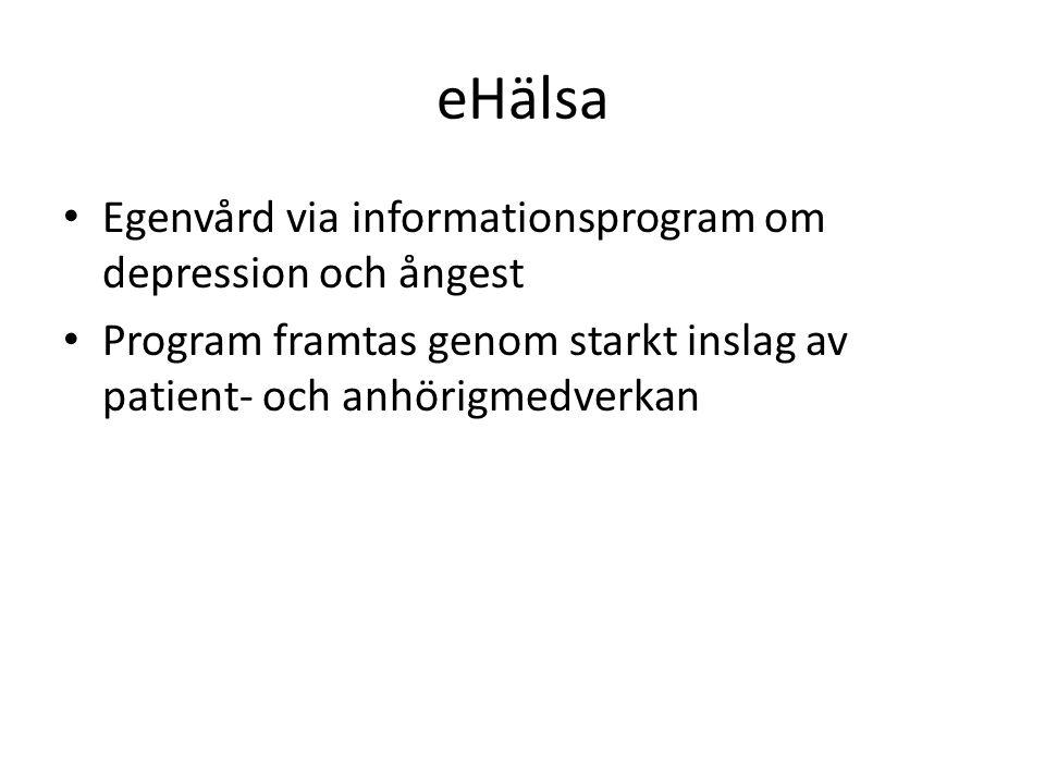 eHälsa Egenvård via informationsprogram om depression och ångest