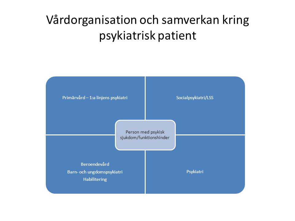 Vårdorganisation och samverkan kring psykiatrisk patient