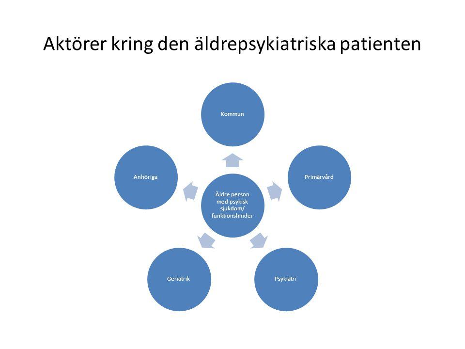 Aktörer kring den äldrepsykiatriska patienten