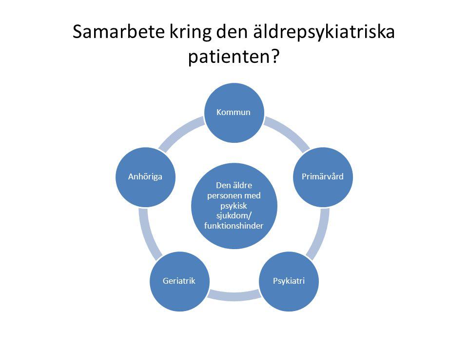 Samarbete kring den äldrepsykiatriska patienten