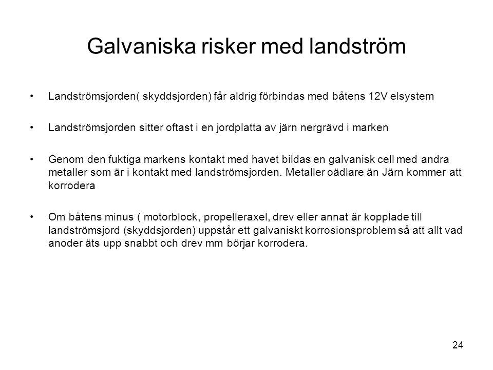 Galvaniska risker med landström