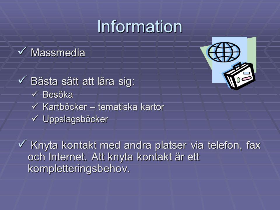 Information Massmedia Bästa sätt att lära sig: