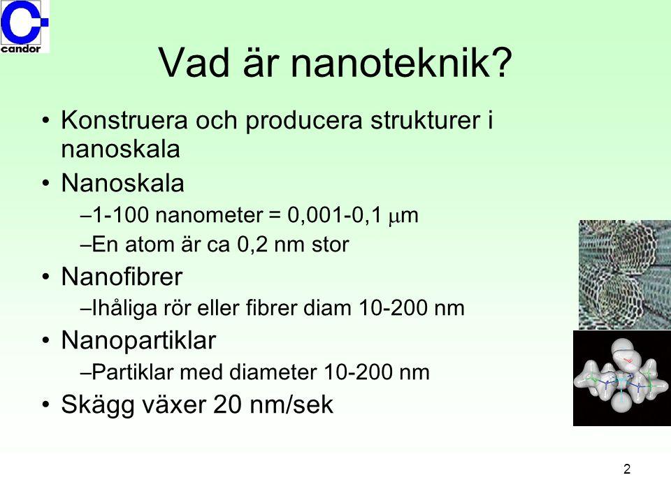 Vad är nanoteknik Konstruera och producera strukturer i nanoskala