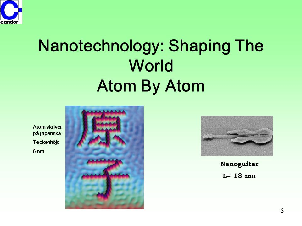 Nanotechnology: Shaping The World Atom By Atom