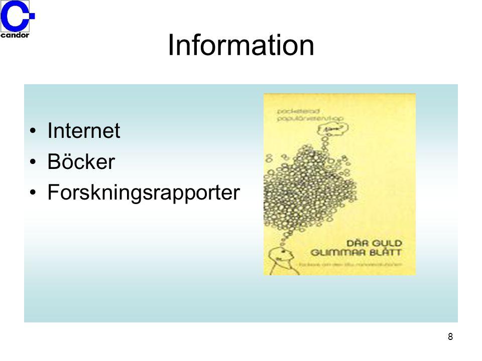 Information Internet Böcker Forskningsrapporter