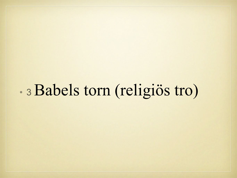 3 Babels torn (religiös tro)