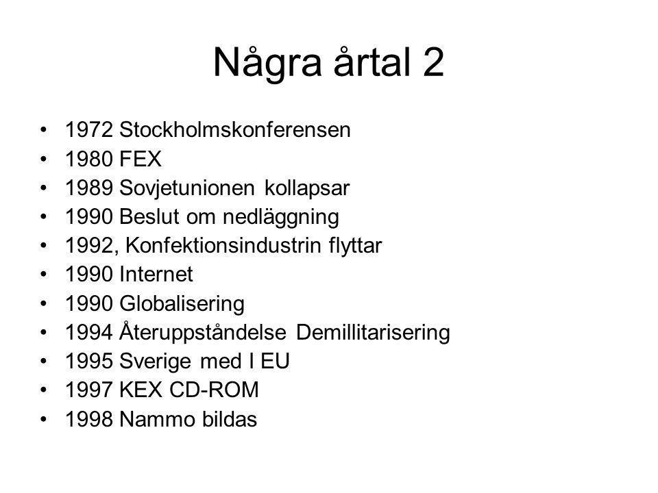 Några årtal 2 1972 Stockholmskonferensen 1980 FEX