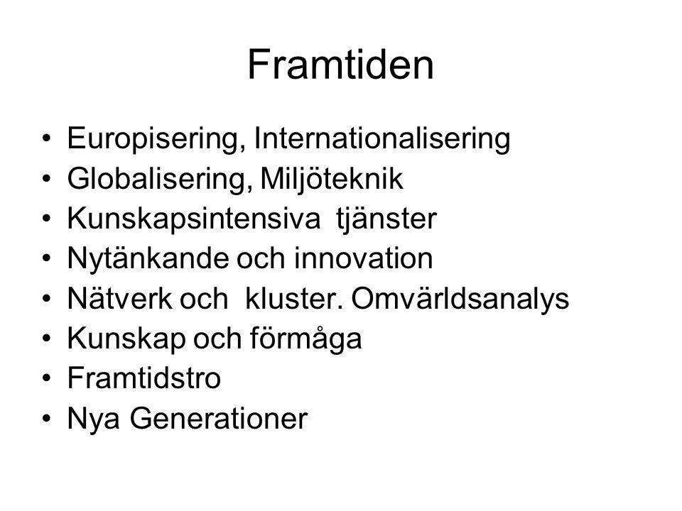 Framtiden Europisering, Internationalisering