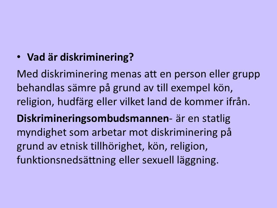 Vad är diskriminering