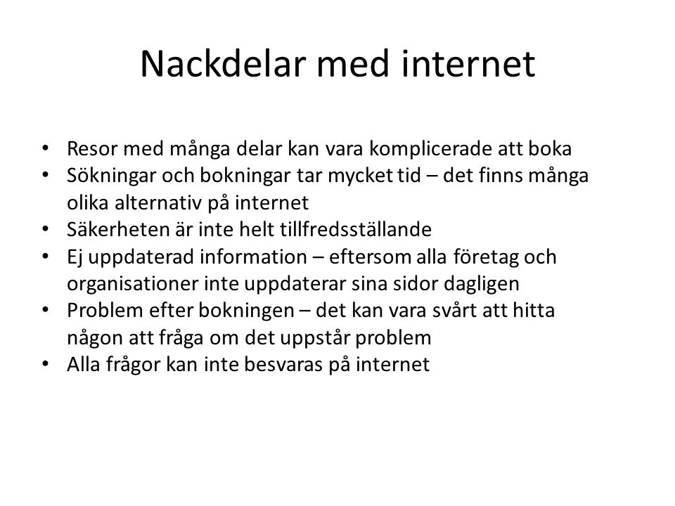 Nackdelar med internet