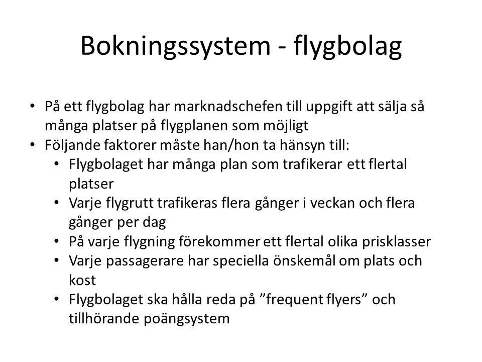 Bokningssystem - flygbolag