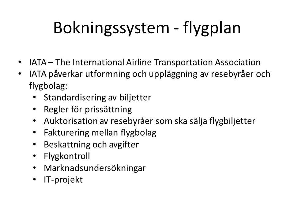 Bokningssystem - flygplan