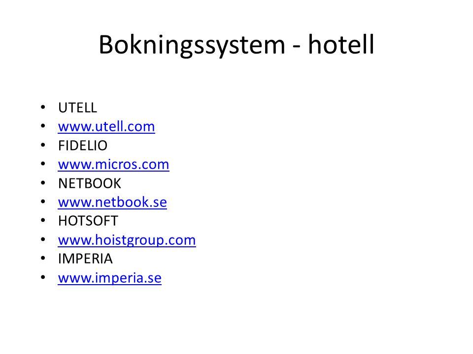 Bokningssystem - hotell