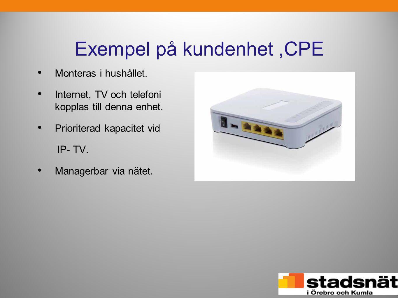 Exempel på kundenhet ,CPE