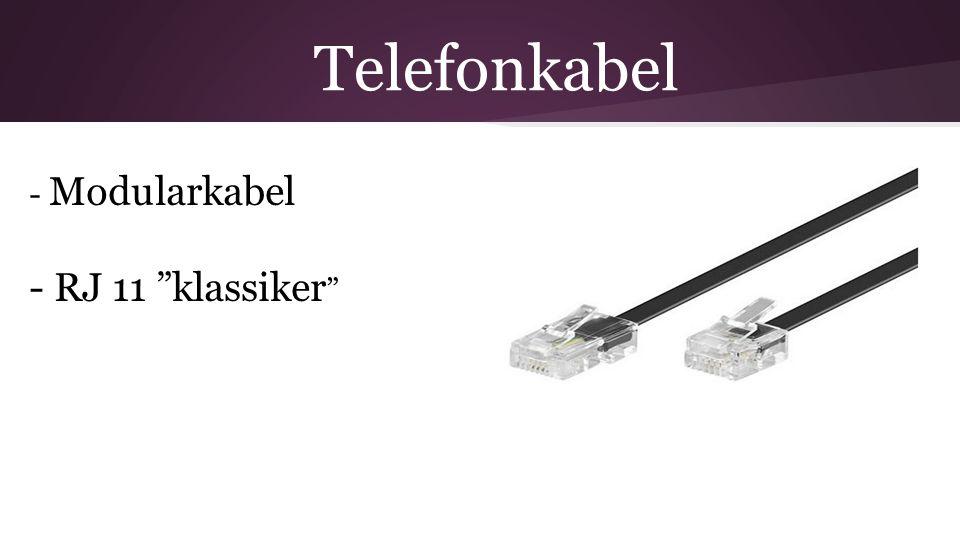 Telefonkabel - Modularkabel - RJ 11 klassiker