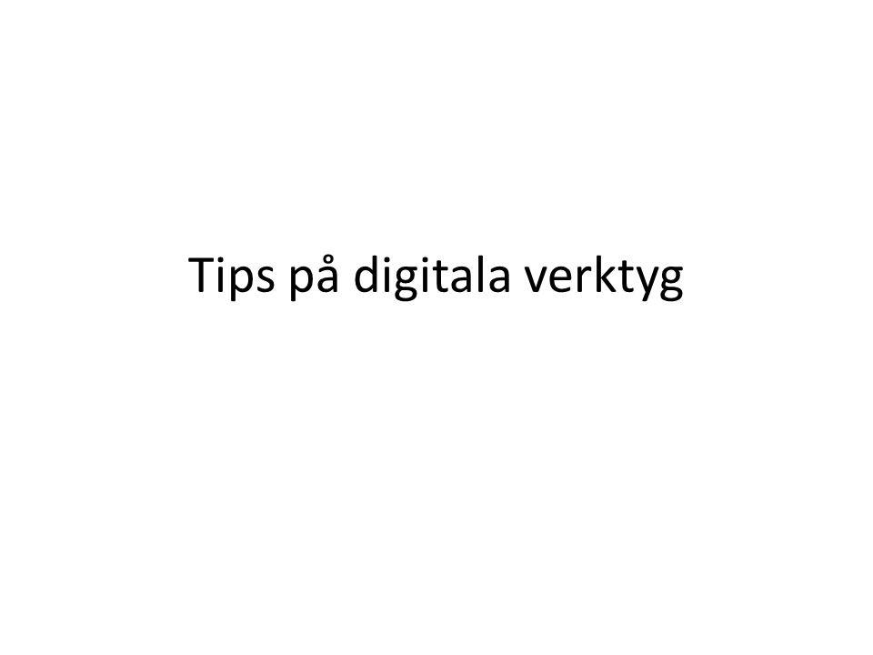 Tips på digitala verktyg