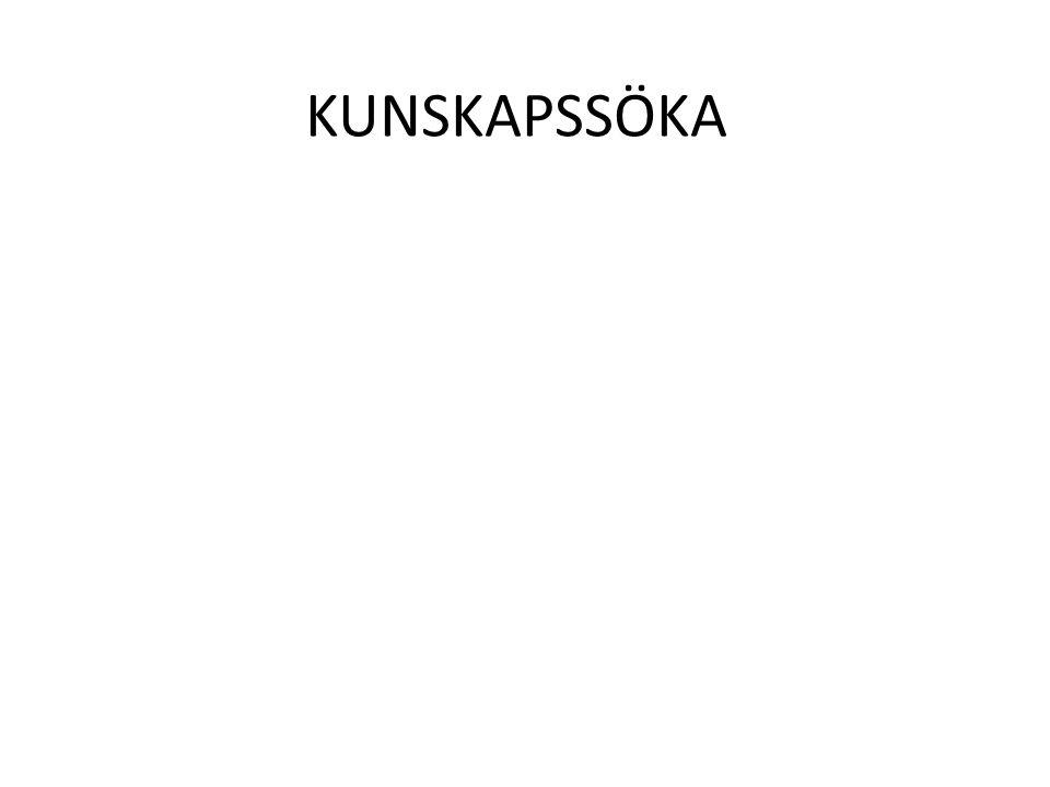 KUNSKAPSSÖKA