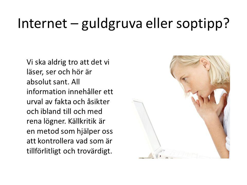 Internet – guldgruva eller soptipp