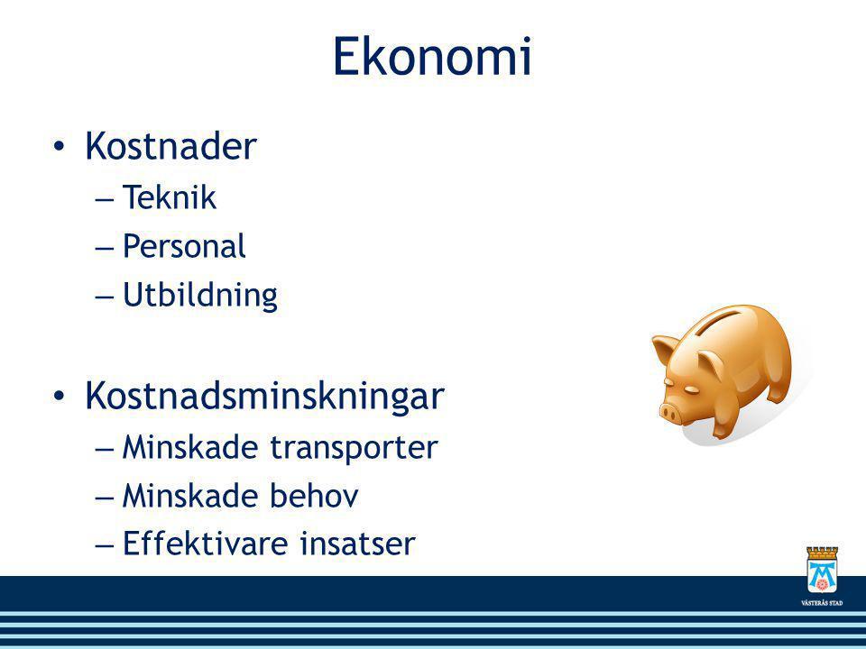Ekonomi Kostnader Kostnadsminskningar Teknik Personal Utbildning