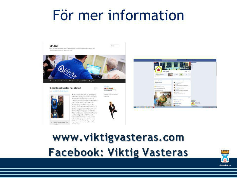 Facebook: Viktig Vasteras