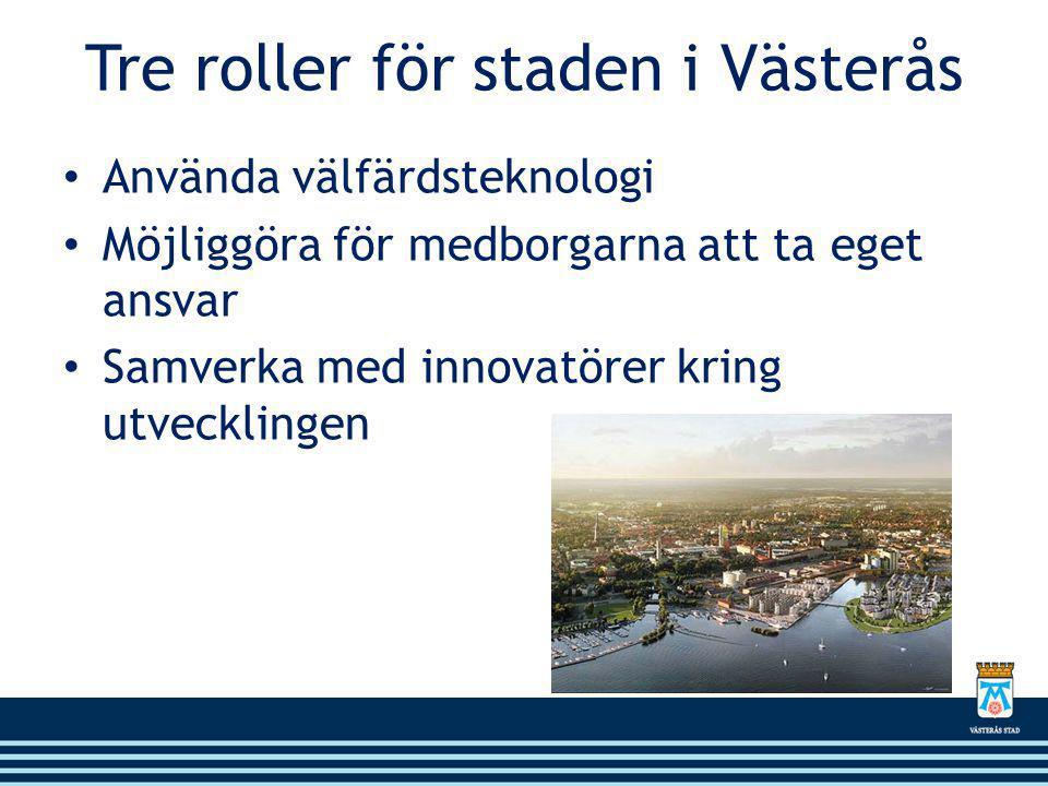 Tre roller för staden i Västerås