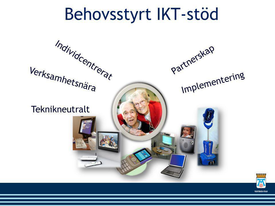 Behovsstyrt IKT-stöd Individcentrerat Partnerskap Verksamhetsnära