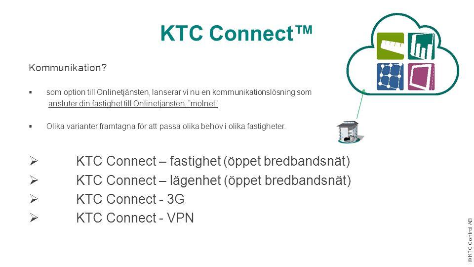 KTC Connect™ KTC Connect – fastighet (öppet bredbandsnät)