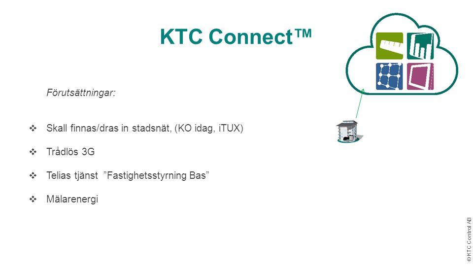 KTC Connect™ Förutsättningar: