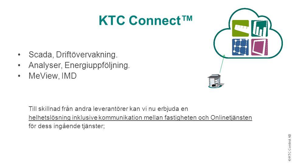 KTC Connect™ Scada, Driftövervakning. Analyser, Energiuppföljning.
